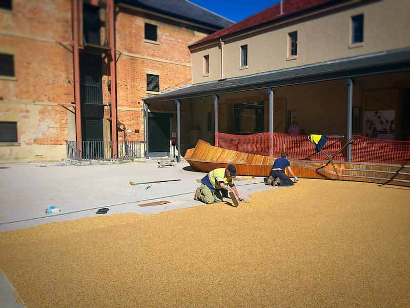 Tasmanian Museum and Art Gallery Courtyard, Hobart